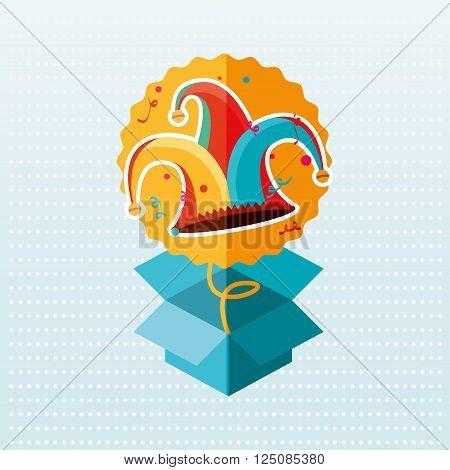 jester carnival design, vector illustration eps10 graphic