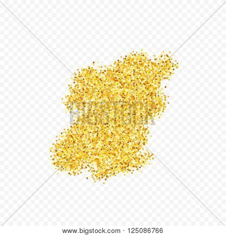 Gold placer . Gold glitters . Metal gold. Gold Dust . Gold isolation. Golden sand. Handful of gold . Yellow gold,