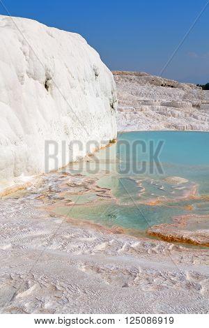 Calcium   Pamukkale Turkey Asia The Old
