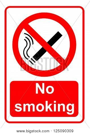 An illustration of a No smoking sign