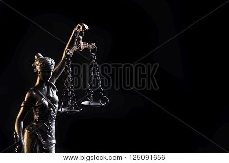 Statuette Of The Goddess Of Justice Themis