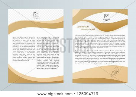 Business brochure . Brochure Flyer design. Front page and back page. Brochure Layout template. Easy to use and edit.