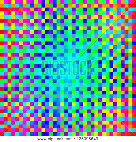 varicoloured background with square pattern - vector illustration