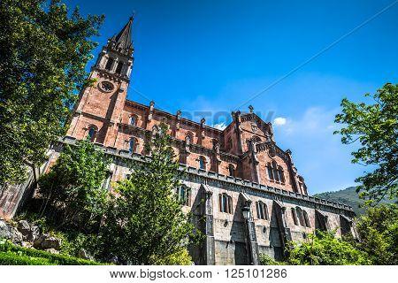 Basilica of Santa Maria Covadonga Asturias Spain