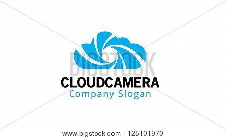 Cloud Camera Creative And Symbolic Logo Design Illustration