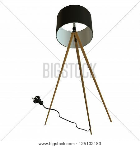 3d illustration of a lamp on white background isolated