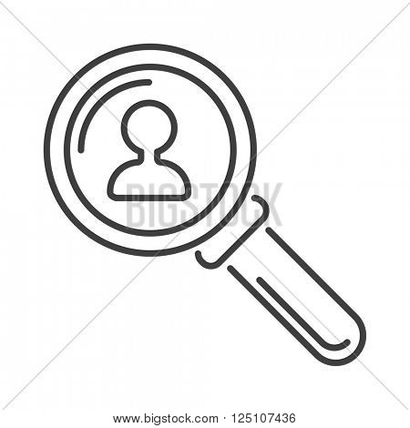 Magnifying glass flat loupe icon vector illustration.