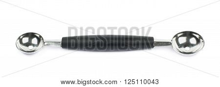 Double ended serving icecream ball spoon isolated over the white background