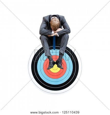 A businessman being fired