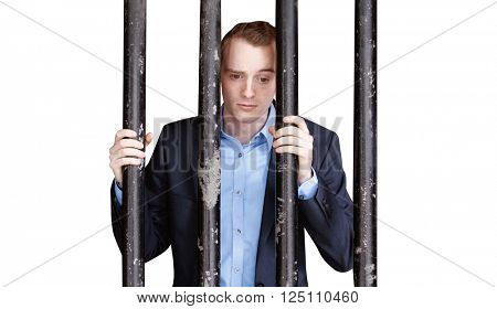 A businessman behind bars