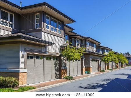 Modern townhouses in Vancouver British Columbia Canada