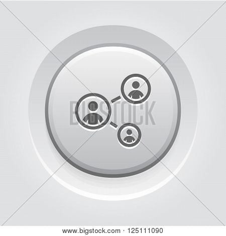 Staff Training Icon. Business Concept. Grey Button Design