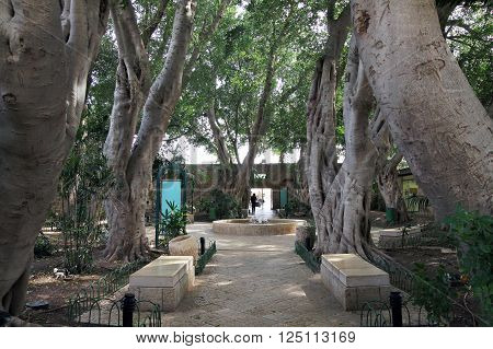 ACRE ISRAEL - MARCH 02 2016: Square in the city of the Crusaders in Acre