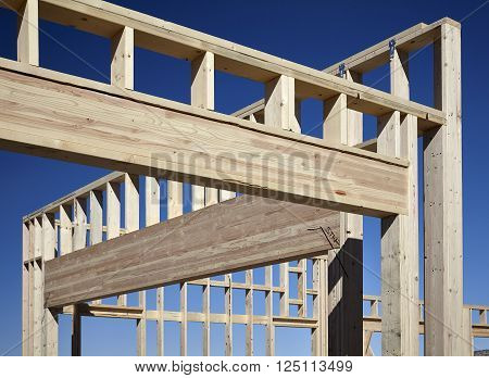 construction home building industry carpentry and sitework details in progress