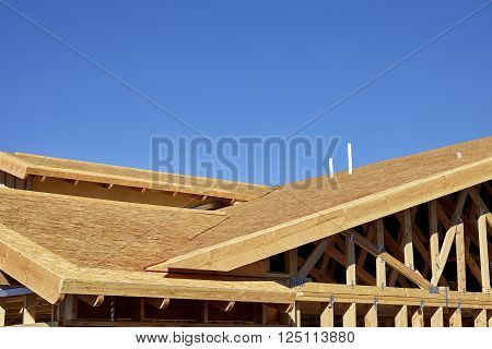 Home building construction carpentry gable roof framing transition