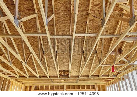 Home Construction Rafter Roof Truss Framing Carpentry