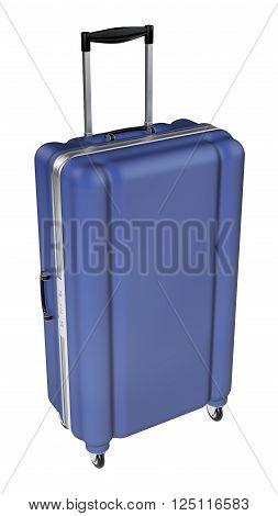Large Luggage Isolated On White Background.