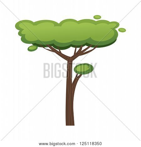 African tree vector illustration. African tree isolated on white background. African tree vector icon illustration. African tree isolated vector. African tree symbol