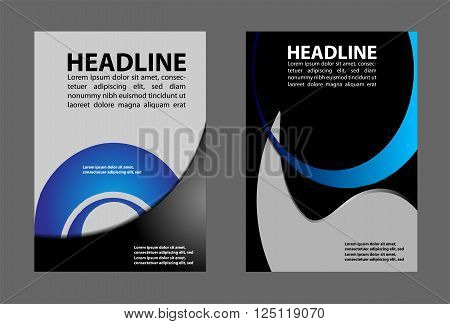 Vector design flyer whit place for pictures. Poster template for your business.