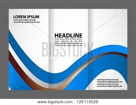 Vector modern tri-fold brochure design template vector template design