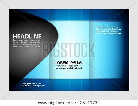 Vector modern tri-fold brochure design template vector template design