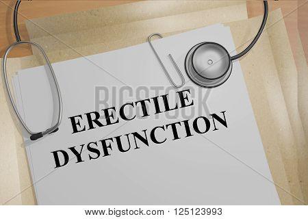 Erectile Dysfunction Medicial Concept
