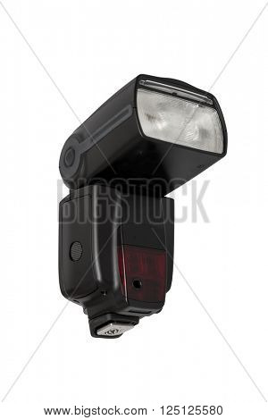 External flash isolated on white with clipping path.