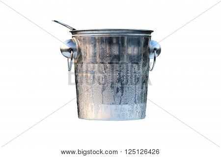 Champagne bucket on the white background  .