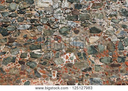 Old stone wall Leinster Bay St. John U.S. Virgin Islands
