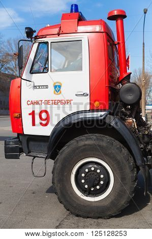 Kabin Of Kamaz 43253 As A Russian Fire Engine