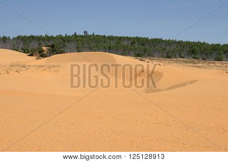 View of the Red dunes near Mui Ne. South Vietnam