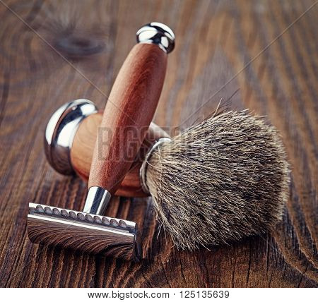 Shaving Razor And Brush