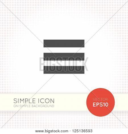 Flat menu icon eps. Minimalistic hamburger menu vector.
