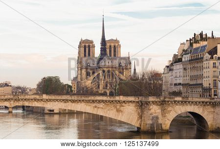 The catholic cathedral Notre Dame is widely considered to be one of the finest example of French Gothic architecture and it is among the largest and most well known church buildings in the world.