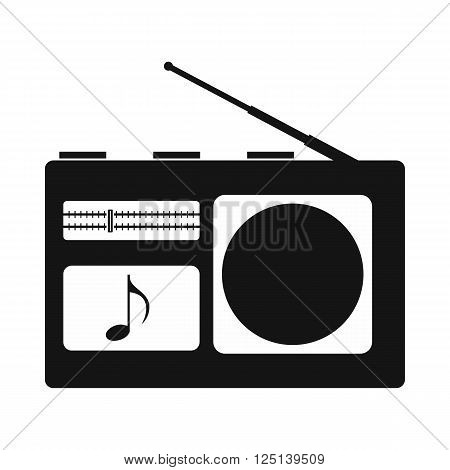 Radio icon in simple style on a white background