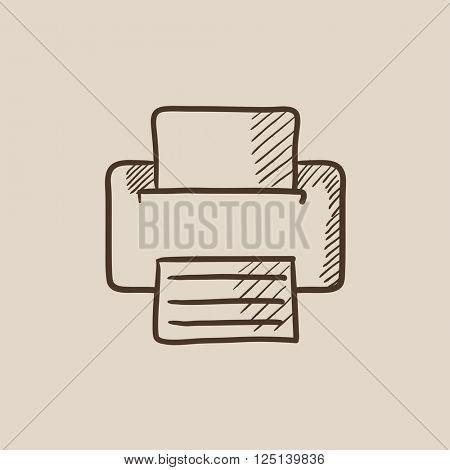 Printer sketch icon.