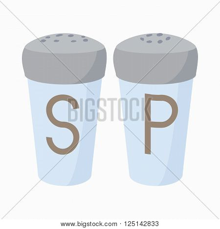 Salt and Pepper Shakers icon in cartoon style isolated on white background