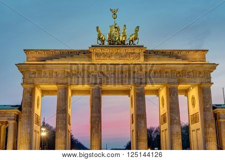Dawn at the Brandenburger Tor in Berlin, Germany