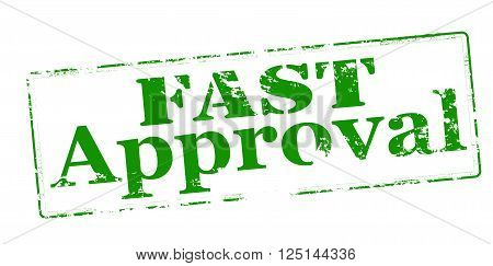 Rubber stamp with text inside vector illustration