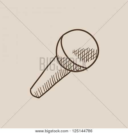 Microphone sketch icon.