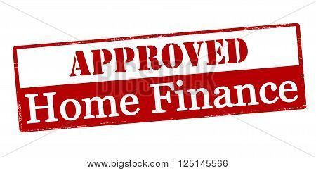 Rubber stamp with text approved home finance inside vector illustration