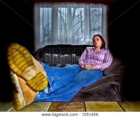 Young Woman, Reclined, Hdr