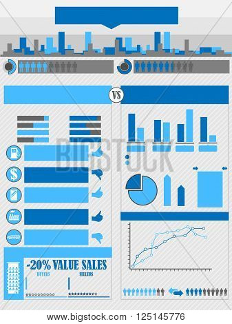 INFOGRAPHICS CITY BLUE for web and other