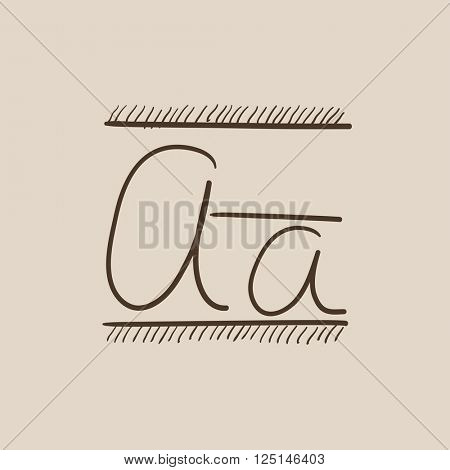 Cursive letter a sketch icon.