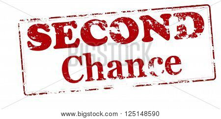 Rubber stamp with text second chance inside vector illustration