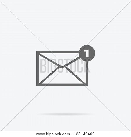 Envelope mail message design linear. Message and email, letter and envelope icon mail, envelope template, internet linear message, send or receive message, correspondence vector illustration