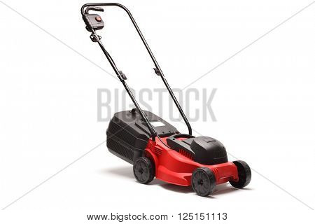 Lawn mower isolated on white background