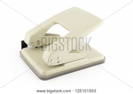 Hole puncher isolated on a white background