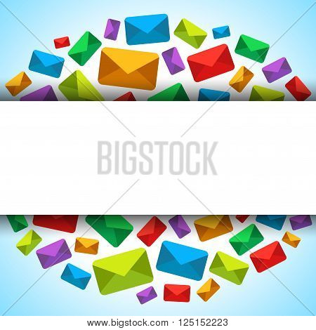 Vector background with email icons and place for text. Useful for email advert/campaign. EPS 10 format.