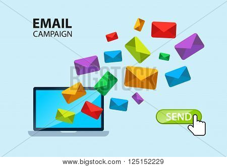 E-mail internet campaign poster. All layers available. Vector EPS 10 file.